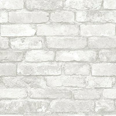 Grey and White Brick Peel And Stick Wallpaper New