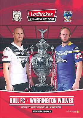 RUGBY LEAGUE CUP FINAL PROGRAMME 2016 Hull FC v Warrington Wolves