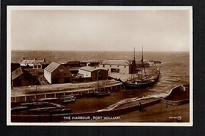 Port William - The Harbour - real photographic postcard