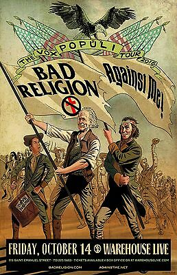 "Bad Religion / Against Me! ""the Vox Populi Tour 2016"" Houston Concert Poster"