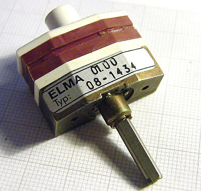 4x3 Rotary Selector Switch, non-shorting, Elma 08-1434