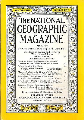 National Géographic(EN) VOL.113 NO.5 May 1958, Heritage Of Beauty And History,..