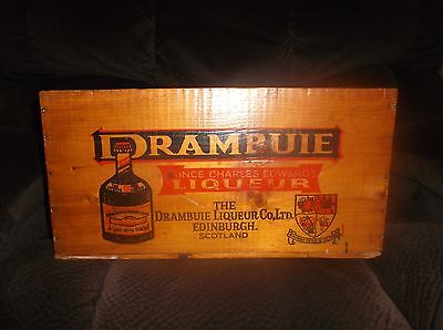Vintage DRAMBUIE Scotland Whiskey Wood Shipping Crate W.A. TAYLOR BALTIMORE MD