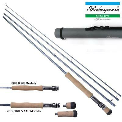 Shakespeare Agility 2 - 4 Piece Fly Rods 8.6Ft - 11Ft With Hard Travel Tube