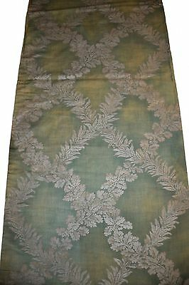 """Fortuny 1920's Cotton Fabric in his """"Crosoni"""" Pattern on a Sage Green Ground"""