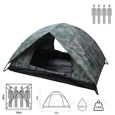 Waterproof Camoflage Family double layer 1-2/3-4 Person tough Wild camping Tent