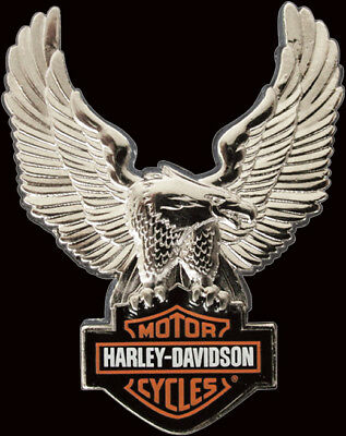 Harley Davidson Upwing Eagle Silver 3D Die Cast Pin