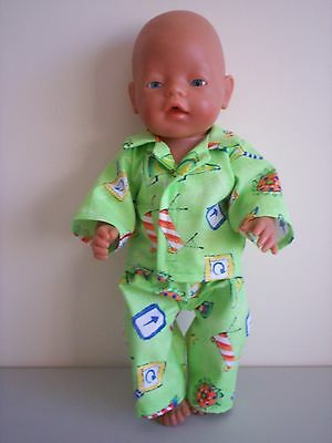 Baby Born Dolls Clothes Boys Constraction Summer  Pj's