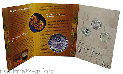 Netherlands 3-Coin Mint Set 'the Story Of The Gulden' Incl. 2 Silver
