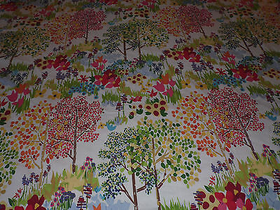 Pottery Barn Woodlands Floral Red/yellow Blue/orange Full/queen Duvet Cover