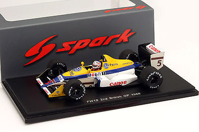 Spark 1:43 Williams FW12 - Nigel Mansell - 2nd Place British GP 1988 - New