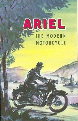 Ariel Motorcycle Brochure Poster 1959 Red Hunter Square 4 original