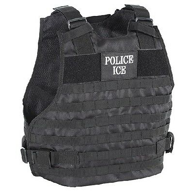 Voodoo Tactical 20-9029013 Plate Carrier Vest Police Ice Logo - Size MD/LG