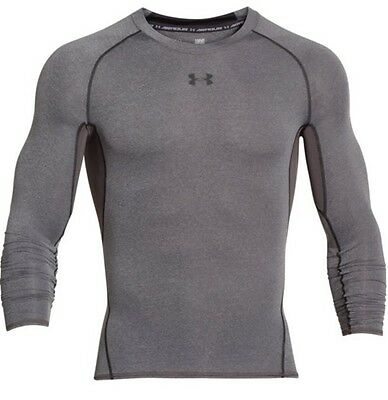 Under Armour 1257471 Men's Carbon HeatGear L/S Compression Shirt - Size 2X-Large