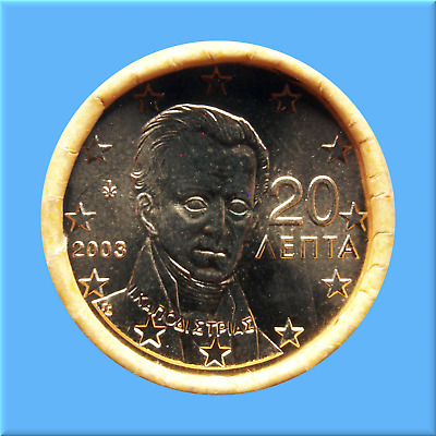 20   Euro - Cent - Rolle - Münzrolle - Griechenland 2003