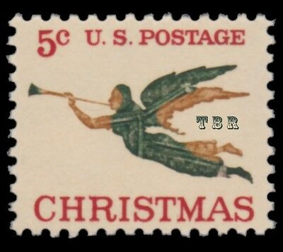 1276a Christmas Angel with Trumpet 1965 Experimental Tagged Issue MNH - Buy Now