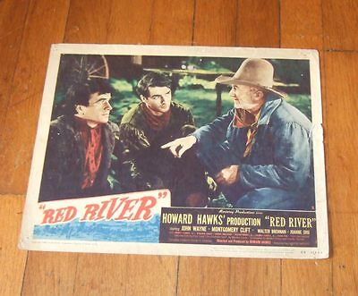 1948 Red River lobby card~Montgomery Clift/Walter Brennan