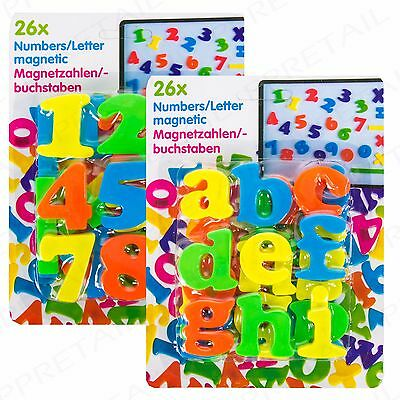 CHILDRENS MAGNETIC NUMBER & LETTER SET Learn Spelling/Maths Educational Bath Toy