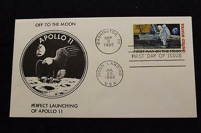 Space Cover Apollo 11 Moon Landing &  1St Day Issue Dual Cancel (2725)