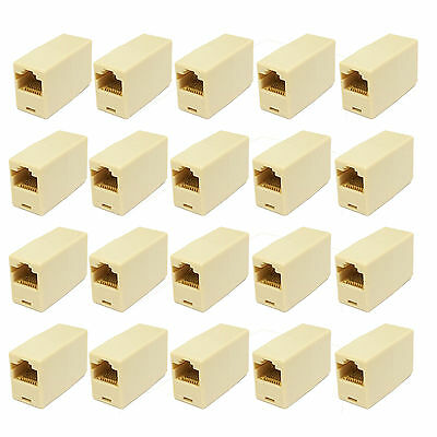 20 pc RJ45 Cat5 Connector Coupler For Extension Broadband Ethernet Network Cable