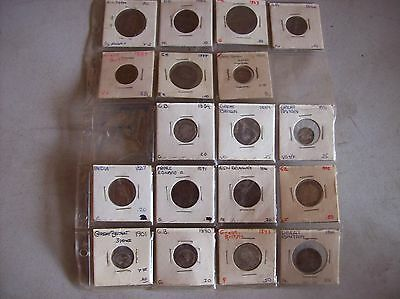 1839 - 1901 LOT OF Great Britain Penny COINS UK , VICTORIA & SILVER ENGLISH