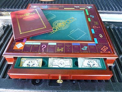 Franklin Mint Limited Edition Wooden Monopoly Set Sold As Is