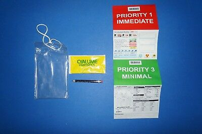 North American 20-0033 Priority 1 TRIAGE TAGS ~ Lot of 20