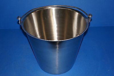 Vollrath 58130 Stainless Steel Tapered Dairy Pail 12-1 2-quart