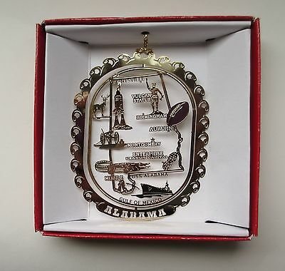 Alabama State Ornament Brass Travel Souvenir Gift
