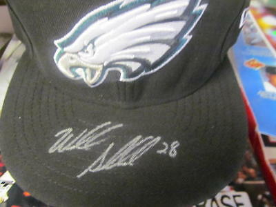 Wendell Smallwood Philadelphia Eagles Signed fitted Hat COA 2