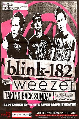 Blink 182 / Weezer / Taking Back Sunday 2009 Seattle Concert Tour Poster