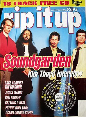"""Soundgarden """"rip It Up"""" New Zealand Promo Poster For 1996 Magazine"""