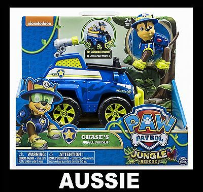 PAW PATROL Chase's Jungle Cruiser ~ Chase Figure & Rescue Vehicle ~ NEW