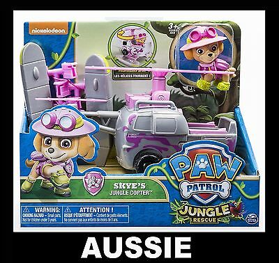 PAW PATROL Skye's Jungle Copter ~ Skye Figure & Rescue Helicopter Vehicle ~ NEW