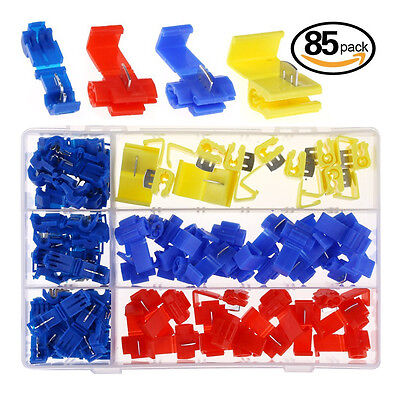 Car Quick Splice Wire Electrical Connector& T-Tap Connector 85Pcs Assortment Set