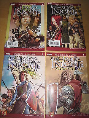 GEORGE R R MARTIN (GAME OF THRONES): The HEDGE KNIGHT II, SWORN SWORD #s 2,5,6