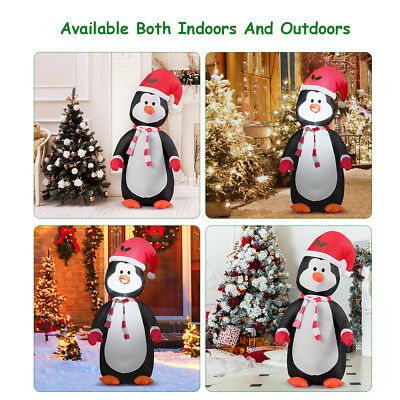 1.2M Inflatable Christmas Penguin with Light Up Party Decoration Indoor Outdoor