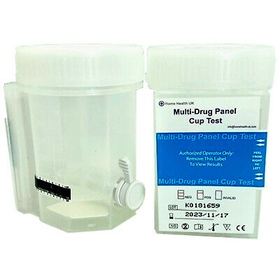 2 x Drug Testing Kit with Urine Collection Cup Integrated 8 in 1 Home Work Test