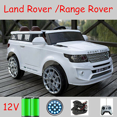 Land Rover 2x Door Coupe Kids Toy Ride On Car 12V 2x Motor + Leather Seat + R/C