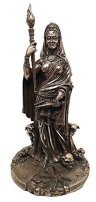 Hecate Goddess w Dogs and Staff Patroness of Witchcraft Statue Sculpture Greek
