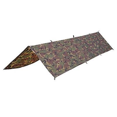 BRITISH ARMY STYLE BASHA SHELTER COVER in WOODLAND CAMO