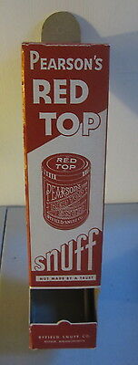 Original Old Vintage 1920's - Pearson's Red Top SNUFF - Store Display Dispenser