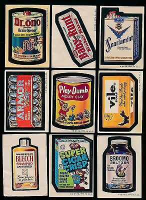 1973/74 Wacky Packages Lot Of 15 Different    102416Hm     Nslt09