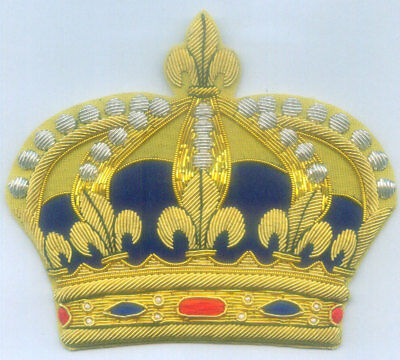 Medieval France Royal Family Crown French King Empire Kingdom Heraldry Patch HRE