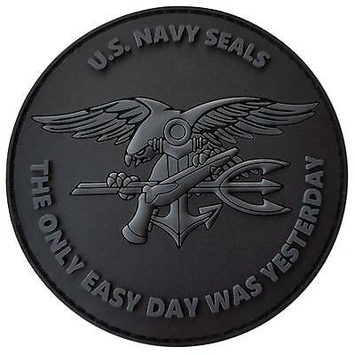 the only easy day US navy seals PVC 3D all black ACU hook patch