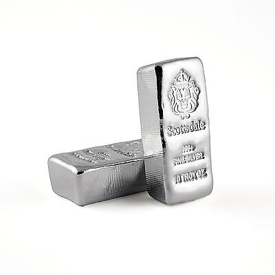 "2 x 10 oz .999 Silver Bars - Loaf Poured ""Chunky"" Bullion #A411"