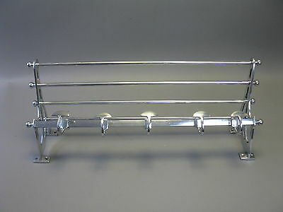 Silver Coat Hat Rack Nickel 78 cm wide