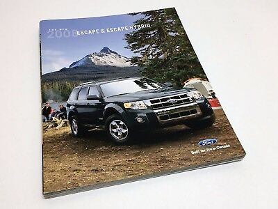 2008 Ford Escape & Hybrid XLS XLT Limited Brochure