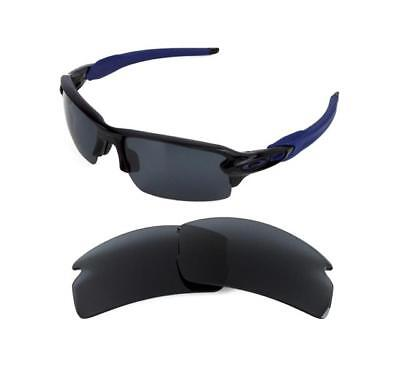 New Polarized Replacement Black Lens For Oakley Flak Jacket 2.0 Sunglasses