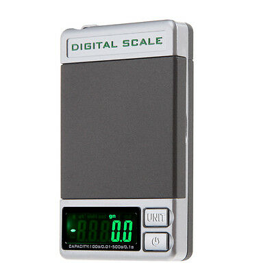 Digital Scale 500g x 0.1g 0.01g Jewelry Gold Silver Coin Grain Gram Pocket Size